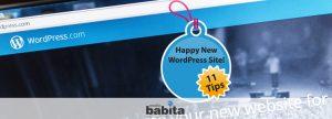 testo icona New WordPress Site in 11 Tips
